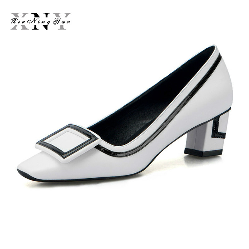 2019 Chaussures Mariage Élégant Blanc Lady Femmes Cuir Taille Office qTwOAA