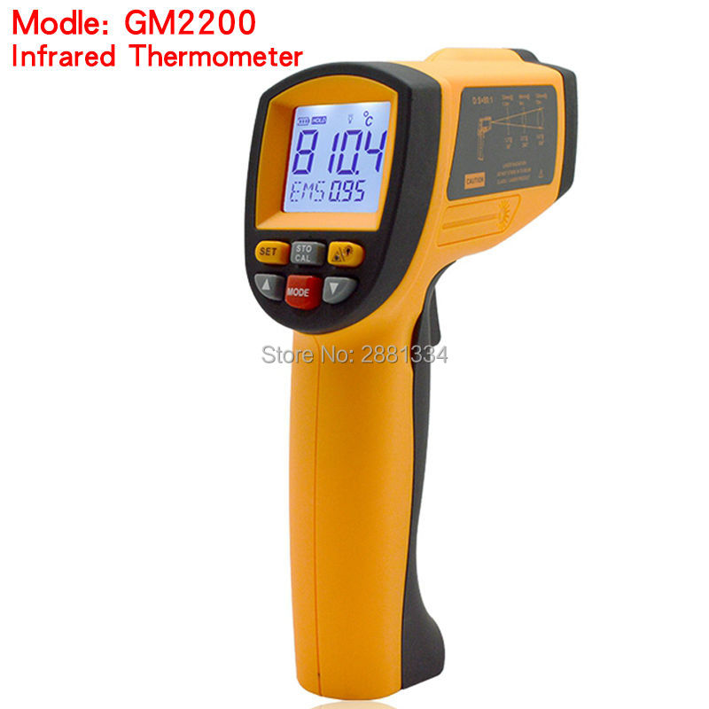Handheld Infrared IR Thermometer GM2200 Temperature Range 200~2200 C 0.1 To 1.00 Adjustable Temperature Meter Tester (1)