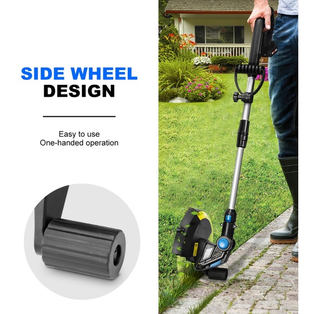 20V Electric Grass Trimmer Cordless Lawn Mower 12in Auto Release String Cutter Pruning Garden Tools 2000mAh Li-ion By PROSTORMER 5