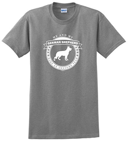 Corto 100% de Algodón Del O-cuello Mujeres Conmigo y Mi Pastor Alemán Hacer un Equipo Impresionante Camisetas