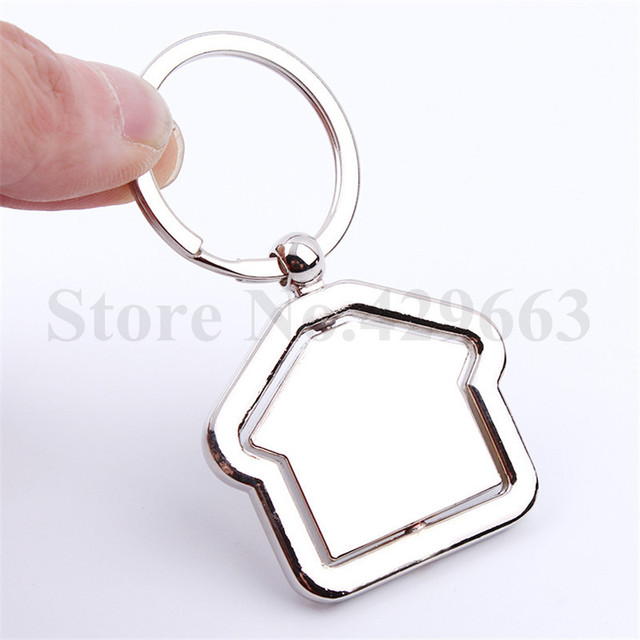 10 pieces lot Rotate House Keychain Key Ring New Spin House Keychains  Novelty Rotate Keyrings Gifts for Events 84dda5342cc6