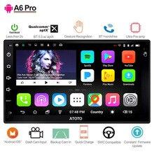 ATOTO A6 2 Din Android GPS для автомобиля, стерео плеер/2x Bluetooth/A6Y2721PR-G/руки жест управление/Indash Двухканальное радио/wi fi USB