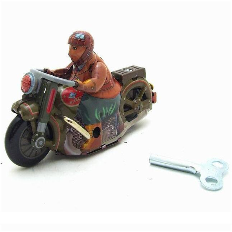 Vintage Retro Collection Tin toys Classic Clockwork Wind Up motorcycle Tin Toys With Key Gift For Adult Children Christmas Gifts