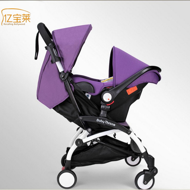 YIBAOLAI Children can sit reclining stroller lightweight car seat baby strollers folding cradle basket adjustable carry on foot rest hammock for airplane train