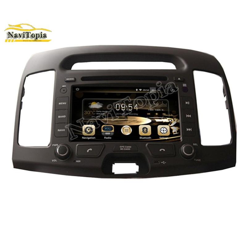 NAVITOPIA 4G RAM Eight Octa Core Android 8.0 Car DVD Multimedia Player for Hyundai ELANTRA 2007-2011 GPS Navigation+Radio Stereo