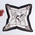 Sol de La Manera 90*90 cm de alta calidad de satén bufanda mantón de las bufandas mujeres patrón carro Envío gratis