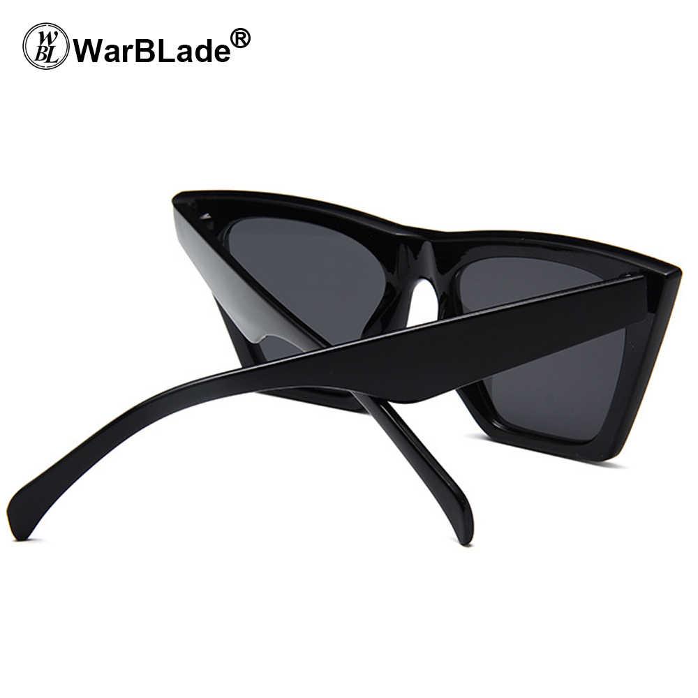 e65510eb91 ... 2018 Hot Cat Eye Kim Kardashian Sunglasses Luxury Brand Designer Women  Sun Glasses Lady Square Frame