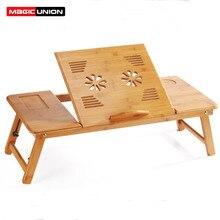 MAGIC UNION przenośny składany bambusowy stolik na laptopa rozkładana Sofa Home podstawka do laptopa komputer biurko do notebooków łóżko stół Plus rozmiar