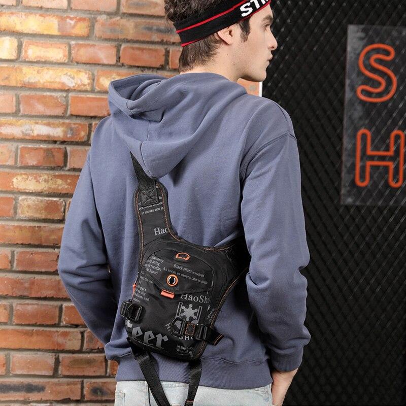 Men Waterproof Nylon Drop Leg Bags Thigh Hip Bum Belt Bag Waist Fanny Pack Boys Travel Riding Motorcycle Crossbody Shoulder Bags 5