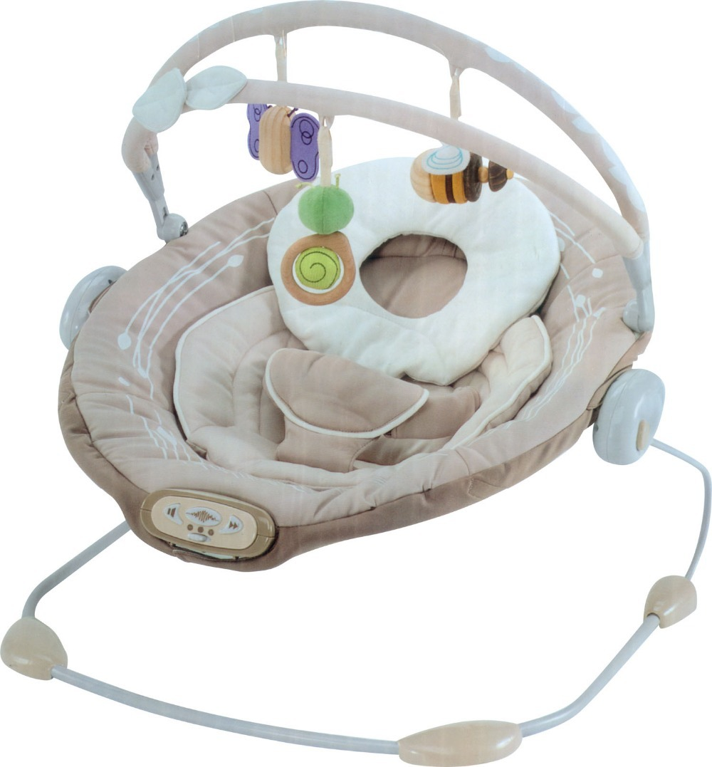 Free shipping sweet comfort musical vibrating baby bouncer chair automatic baby swing rocker baby rocking chair