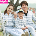 2015 Matching Mother Daughter Clothes Family Look Matching Father and Son Suits Parent-child Outfit  Ma e Filha Family Sets