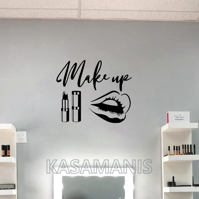 makeup art wall decals