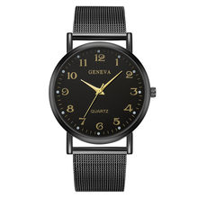 Women's And Men's Fashion Sport Stainless Steel Case Leather Band Quartz WristWatch Black Digital clock Dial Ladies Watch(China)