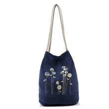 simple design women shoulder bags large casual messenger totes floral printing bucket handbags for ladies shopping bolsos ZZ262