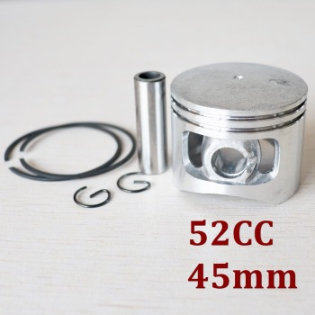 Kit de pistones de motosierra de 45mm para Motor de cilindro de Gas chino 5200 52cc G5200 con anillos de pasador, repuestos de Circlips