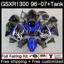 Цвет синий, черный; большие размеры комплект для SUZUKI Hayabusa GSXR-1300 1996 1997 1998 1999 2000 2001 39HC. 6 GSXR 1300 GSXR1300 96 97 98 99 00 01 обтекатель