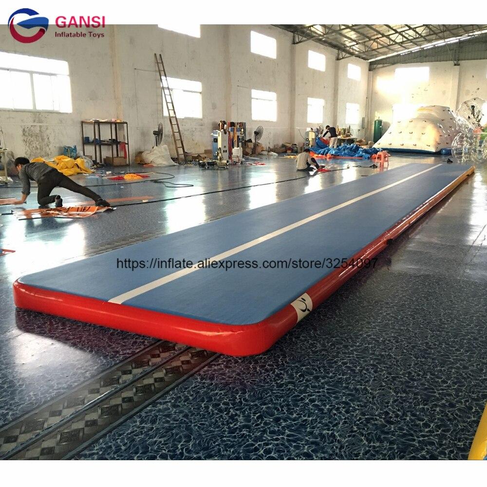 Tapis gonflable de gymnase de matelas d'air de 8*2*0.2 m, tapis gonflable d'air de voie de dégringolade de haute qualité pour la gymnastique