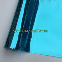 VLT 15% Blue Silver Mirror Window Film Foil For Glass Tint Buliding Home Office Size:1.52*30m/Roll