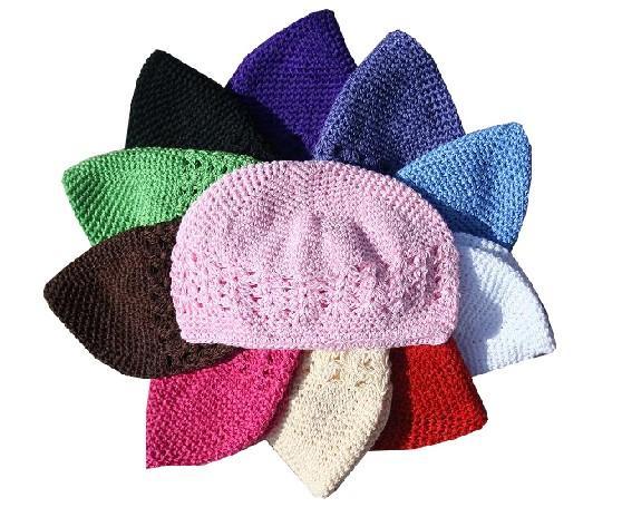 200 шт. куфи шапки девушка крючком Детская шапочка вязаную шапку куфи Шапки малышей Детские вязанные шапочки