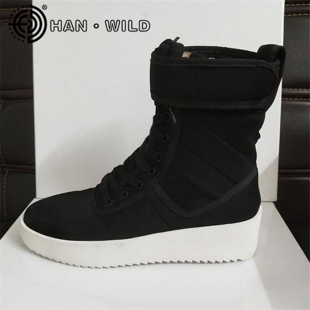 Online Shop Justin Bieber Fear of God Ankle Boots 100% Genuine Leather  Kanye West Boots Men Casual Shoes FOG Platform Botas Knight Boots  5e3c8b7d0609