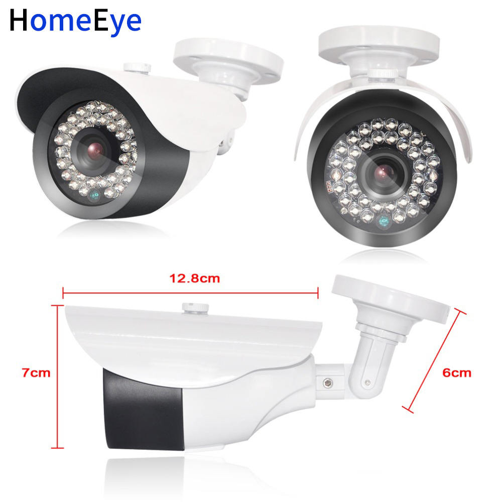 HomeEye 1080P IP Camera Surveillance Camera With 3.6mm Lens Waterproof 2.4 Mega Pixel White Color IR Night Vision