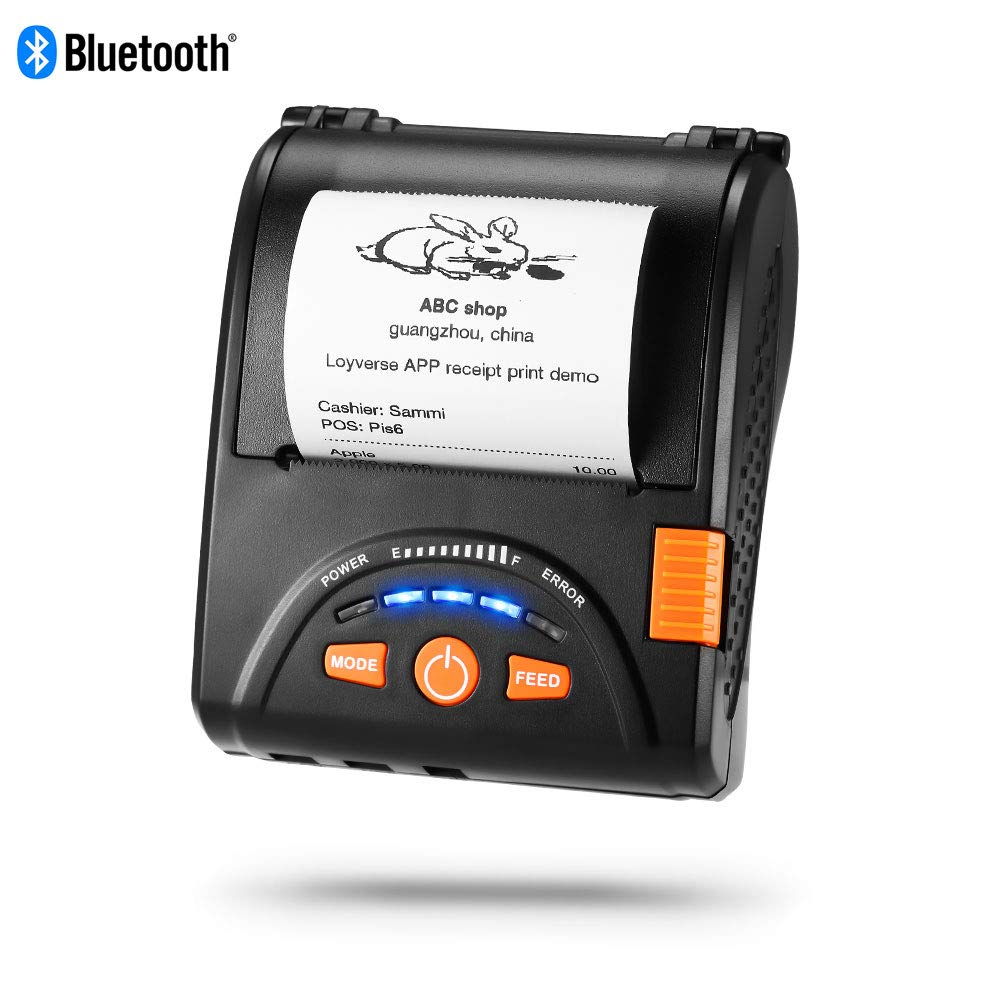 IssyzonePOS Bluetooth Thermal Printer Mobile Mini 58mm Portable Receipt Handheld Pos USB Printers for Android IOS