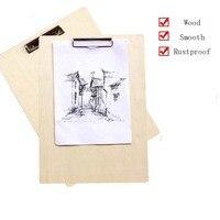 Alta Qualidade Placa de Grampo De Madeira Esboço Prancheta Prancheta Sketch Pad 8 K