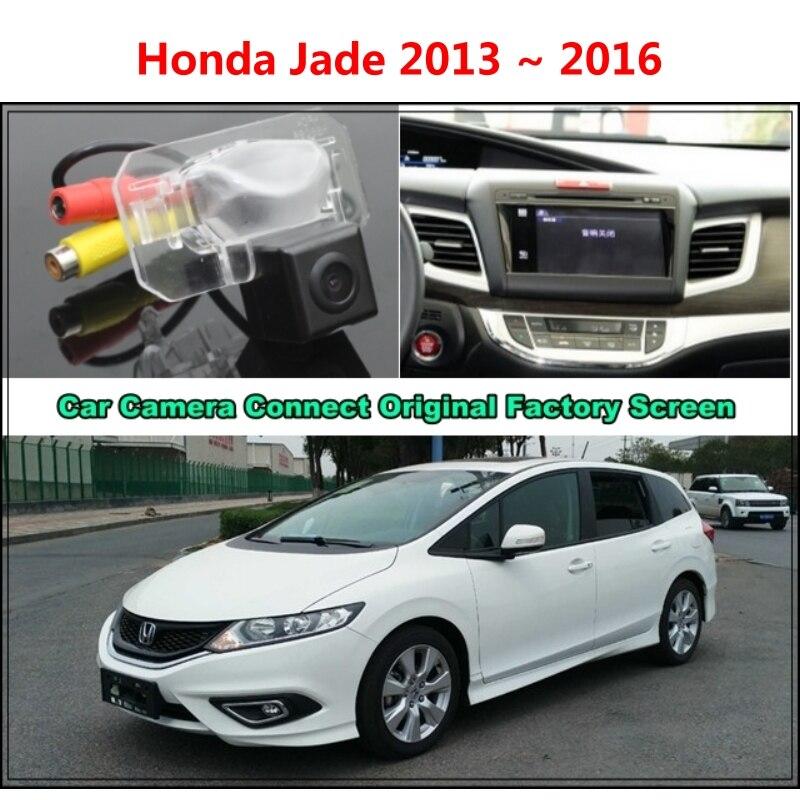 for Honda Jade 2013 ~ 2016 Car Camera Connected Original Screen Monitor and Rearview Backup ...