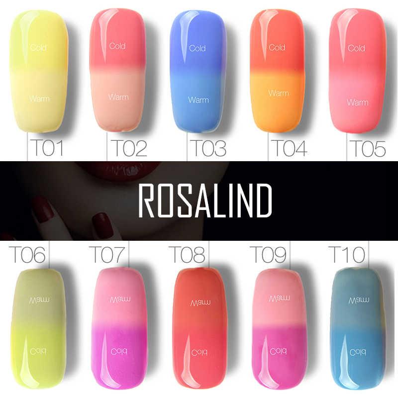 רוזלינד ג 'ל 1S P + שחור בקבוק 10ML טמפרטורת שינוי זיקית T01-30 ג' ל לק ציפורניים אמנות לכה UV LED Thermo