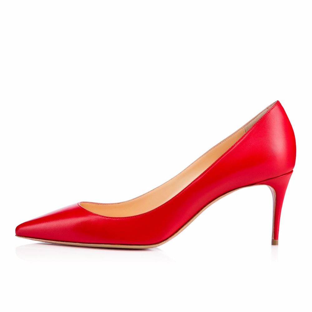 ФОТО 2016 New Fashion Solid women's shoes Summer sexy Low heel pumps court Pointed toe for party wedding Street Big Size5-15
