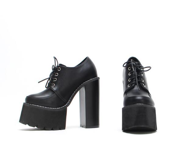Bout as Slip Anti Chaussures Plate Super Dentelle Rond Casual Talons Épais up Cheville Chaude As Pictures Des Pictures forme Style Haute Bottes Femmes Reine TwIBHaA