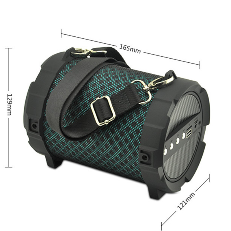 Outdoor strap speaker wireless Bluetooth sports audio Android APP control, hands-free calling TF card MP3 U disc player FM radio image