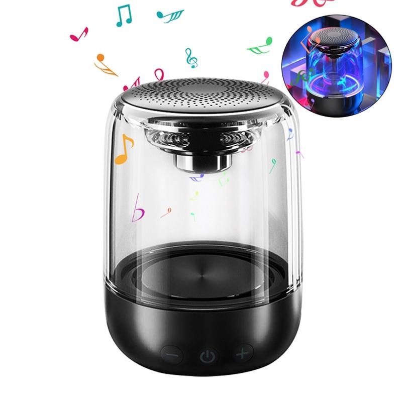 C7 Wireless Bluetooth Speaker Heavy Subwoofer Portable Colorful Light Crystal Glass Speaker 6D surround bass Speaker in Portable Speakers from Consumer Electronics