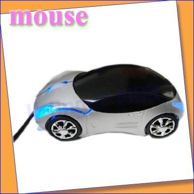 10pcs/lot 3D Car Shape Optical USB Mouse for PC Laptop Computer 3D Car Shape Optical USB Mouse for PC Laptop Computer silver