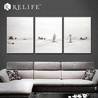 100% Handpainted Snow Landscape Deocrative Oil Painting for Living Room Home Decor American Style Still life