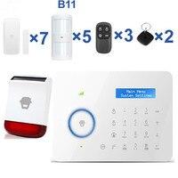 CHUANGO B11 сигнализации ЖК дисплей Дисплей GSM сигнализация Системы дома Охранной Сигнализации Системы Солнечные вспышки Вспышка Сирена