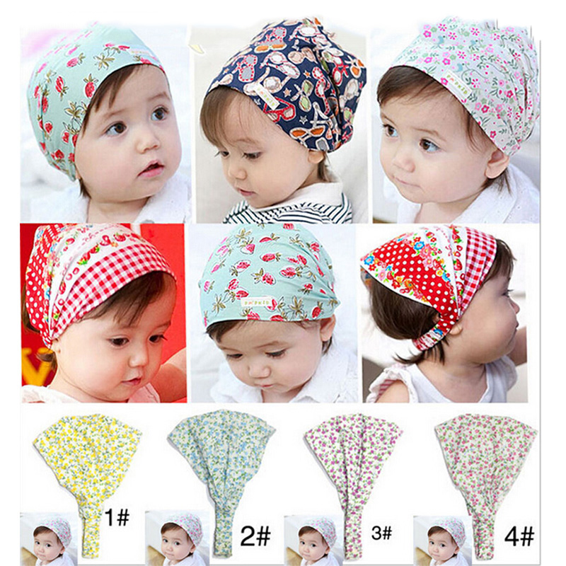 Bandana Hats Kid Flower Headband hair bandS Hair Accessories Headscarf Headwear  W-260 new arrival women turban hats flower dome hat head wrap chemo hats bandana hijab knotted indian cap
