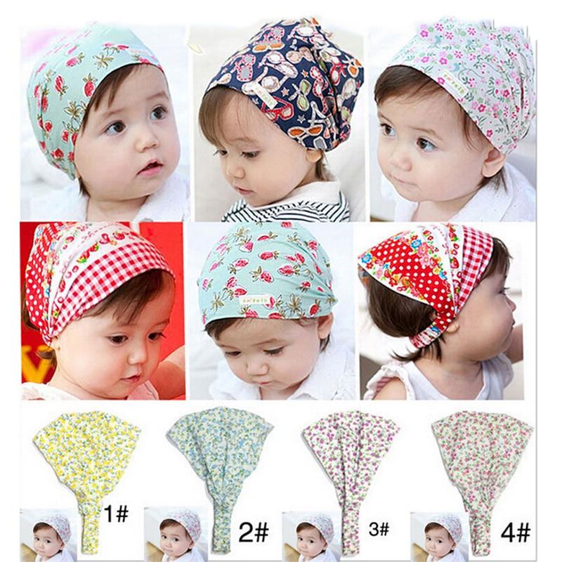 Bandana Hats Kid Flower Headband Hair BandS Hair Accessories Headscarf Headwear  W-260
