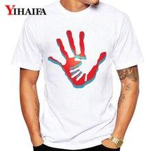 Summer T-Shirt Men Women Tops Fashion 3D Print Hand Painted Graphic Tees Unisex Casual White Tee Shirts Short Sleeve