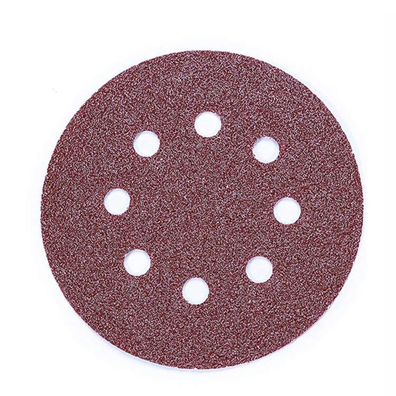 80Pcs/set Sanding Discs Sanding 125mm/5 Inch 8 Holes Hook And Loop 40/60/80/120/180/240/320/400 Disc Pads Sandpaper Assorted