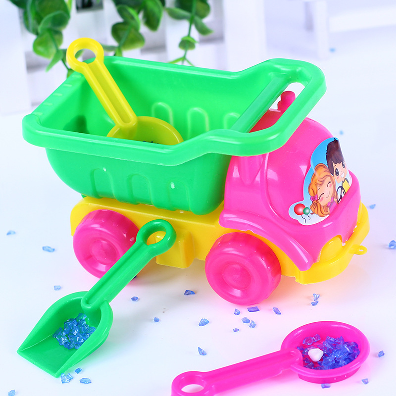 SLPF Beach Toys Children Kids Baby Beach Play Water Sand Cart Set Outdoor Summer Juguetes Playa Zabawki Do Piasku Juegos Hot G06