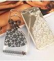 Роскошные Алмаз Сексуальные Кружева Прозрачный Защитный Чехол Горный Хрусталь Крышка капа Силиконовый Чехол Для iPhone 5 5S 6 6 s Plus