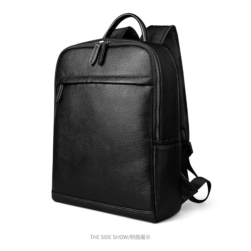Business Genuine Leather Backpack Large Capacity Men Bags Laptop Package Casual Travel Bag For Male Shoulder school Daypacks men s bags large capacity travel one shoulder backpack freelander side bags tactics chest package 14 inch laptop bag travel bag