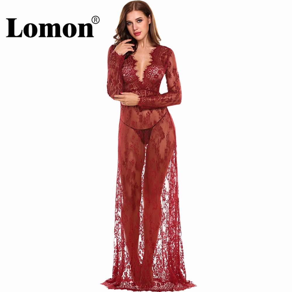 2017 sexy vestidos maternity long sleeve see through hollow out 2017 sexy vestidos maternity long sleeve see through hollow out mesh floral lace maxi dress plus size women clothing beach tunic in dresses from womens ombrellifo Image collections