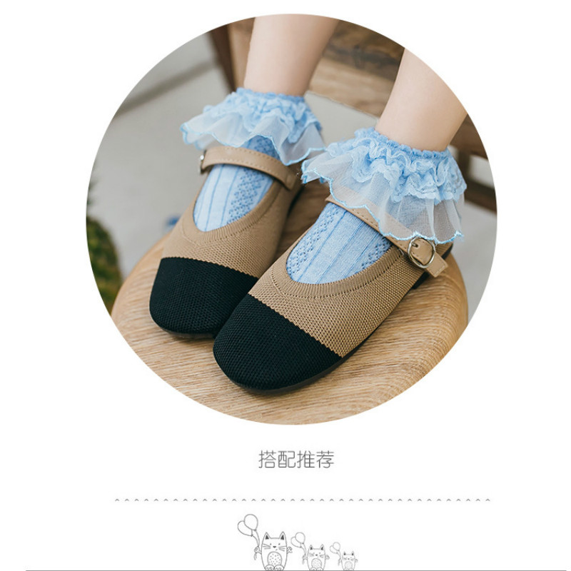 60Pairs/lot Candy Colors Retro Lace Stock Ruffle Frilly Ankle Short Socks Kids Princess Baby Girl Socks For Children