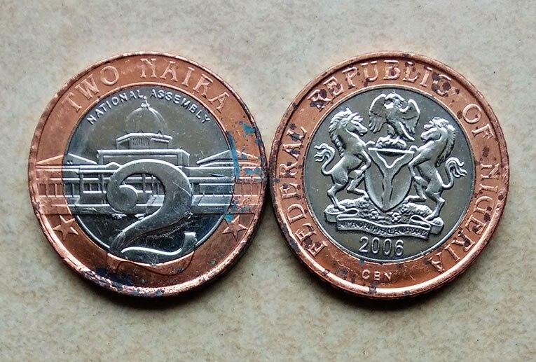 Wohnkultur Verantwortlich 26mm Natinal Montage Nigeria Zwei Naira Münze Nichtwährungs-münzen