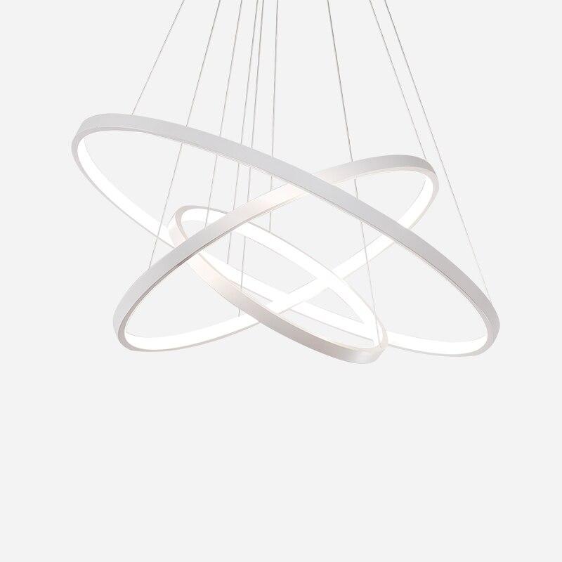 Anneaux de Lustre de cercle Super mince Fashional moderne a mené des lumières de lustres pour l'éclairage d'intérieur/luminaires de Lampe Luminaria AC 85-260 V