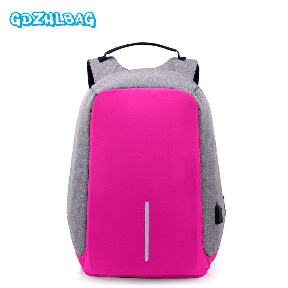 GDZHLBAG Anti-theft Waterproof Laptop Backpack Men External USB Charge Notebook Backpack for Teenage laptop bag B16305