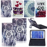 7 8 Inch Tablet Case With Keyboard Leather Protective Cover Case USB Keyboard For Universal 7