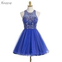 Милое короткое платье на выпускной 2019, трапециевидный Топ, украшенный бусинами, милое 16, с открытой спиной, голубое Выпускное Платье 8 класса